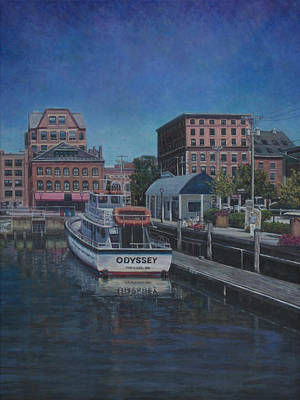 Painting - Portland's Long Wharf by David P Zippi