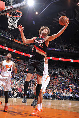 Photograph - Portlant Trail Blazers V Phoenix Suns by Barry Gossage