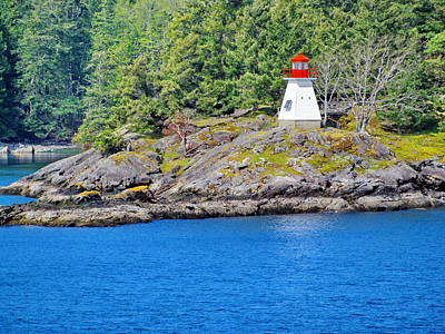 Photograph - Portlock Point Lighthouse In British Columbia by Simply  Photos