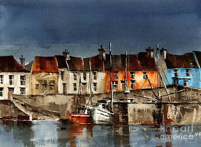 Portmagee Wall Art - Painting - Kerry... Portmagee Harbour by Val Byrne