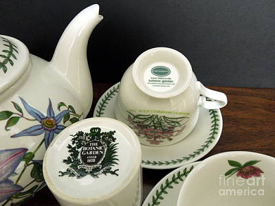 Photograph - Portmeirion Botanic Garden Fine English China Ware by Renee Trenholm