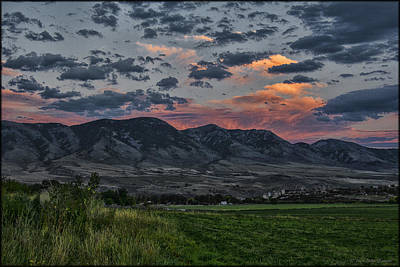 Photograph - Portneuf Range by Erika Fawcett