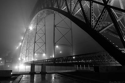 Porto @ Night Fog Art Print