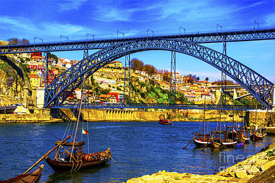 Porto Barges Art Print by Rick Bragan