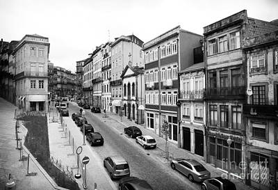 Porto Street Parking Art Print by John Rizzuto