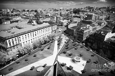 Courtyard Gallery Photograph - Porto Triangulation by John Rizzuto