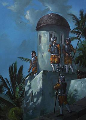 Piracy Painting - Portobello Fort by Anton Atanasov Art