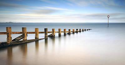 Photograph - Portobello Groynes by Grant Glendinning