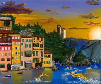 Portofino Italy Painting - Portofino Afternoon by Joseph Carlisi