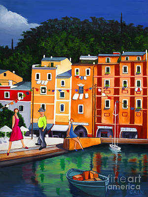 Painting - Portofino Art Print by William Cain
