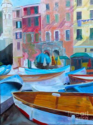 Portofino Italy Painting - Portofino by Barbara Lynn Dunn