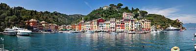 Portofino Big Panorama Art Print by Phooey