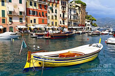 Portofino Boats Art Print by George Oze