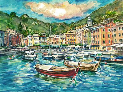 Portofino Italy Painting - Portofino by Claire Viger
