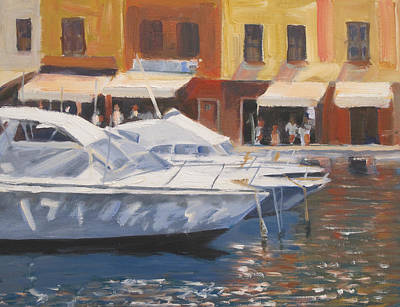 Portofino Italy Painting - Portofino by David Rickert