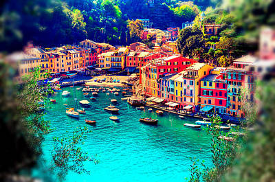 Portofino Dream Print by Michelle Dallocchio