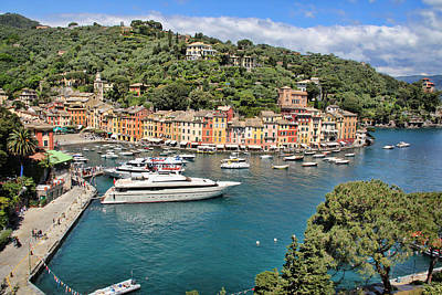 Photograph - Portofino From Above by Nancy Ingersoll
