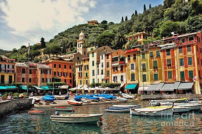 Art Print featuring the photograph Portofino Harbor 2 by Allen Beatty