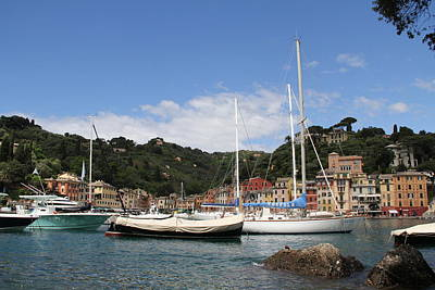 Photograph - Portofino Harbor by Nancy Ingersoll