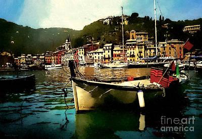 Portofino Harbour Art Print