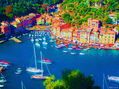 Portofino Print by Michelle Dallocchio