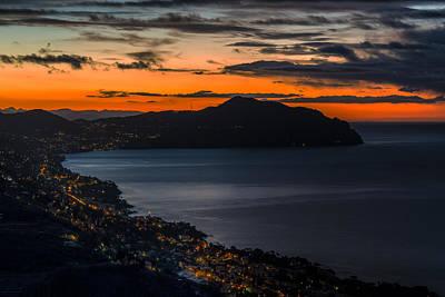 Photograph - Portofino Mount And Paradise Gulf Sunrise - Alba Su Portofino E Golfo Paradiso by Enrico Pelos