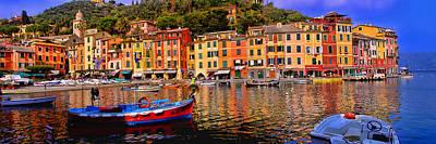 Landscape Photograph - Portofino Panorama by Marc Laytar