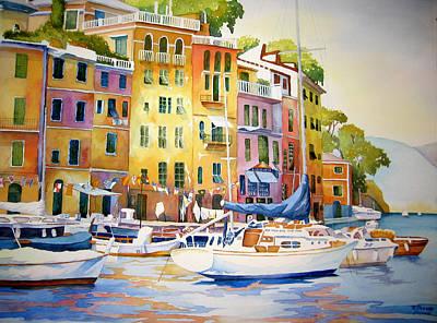 Portofino Italy Painting - Portofino by Richard Rooker