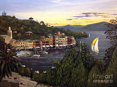 Portofino Italy Painting - Portofino by Rose Madigan