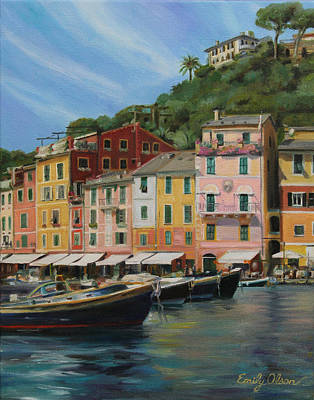 Portofino Summer Art Print by Emily Olson