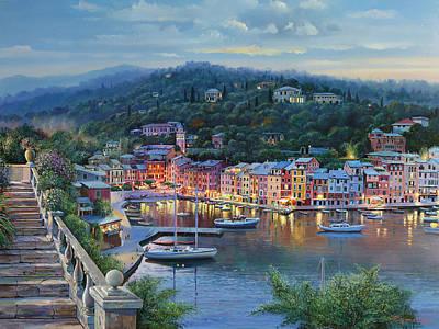 Portofino Italy Painting - Portofino Vista by Raymond Sipos