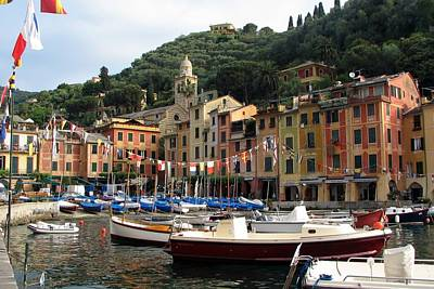 Portofino Fine Art Photograph - Portofino's Colorful Harbor by Carla Parris