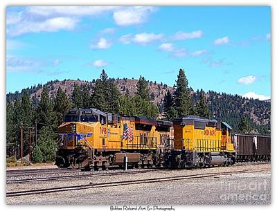 Photograph - Portola Railroad Museum by Bobbee Rickard