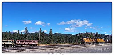 Photograph - Portola Trains At Museum by Bobbee Rickard