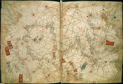 Cartography Photograph - Portolan Chart by British Library