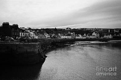 Portpatrick Village And Breakwater Scotland Uk Art Print by Joe Fox