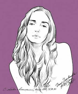 Faa Drawing - Portrait Model 2 by Olga Sorokina