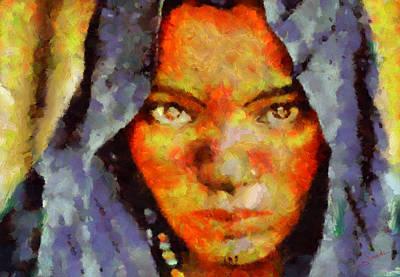 Sahara Painting - Portrait 7 by George Rossidis