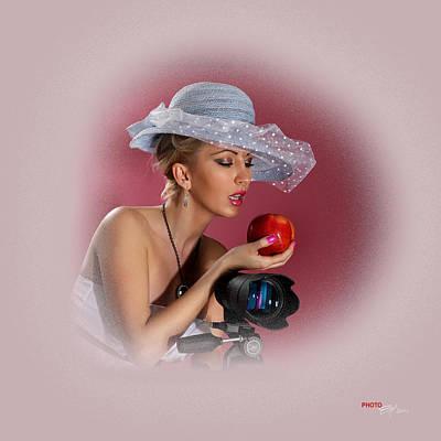 Pyrography - portrait Angie 2 by Emil Jianu