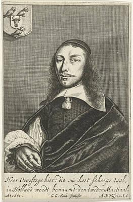 Old Objects Drawing - Portrait Dortse Poet Cornelis Van Overstege, Dordrecht by Artokoloro