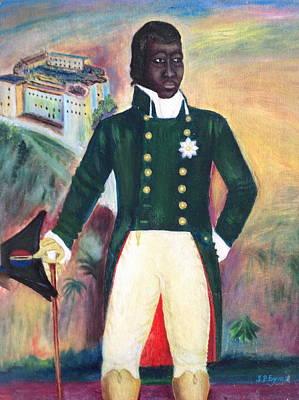 Haitian Painting - Portrait by Haitian artist