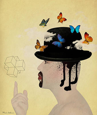 Portrait Hat Art Print by Mark Ashkenazi