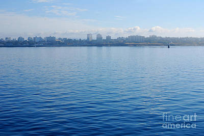 Photograph - Portrait In Blue. Skyline Of Victoria 09.2012 by Connie Fox