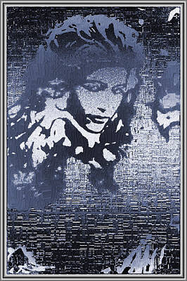 Pointillist Digital Art - Portrait In Ice by Mario Carini