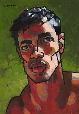 Expressionist Painting - Portrait In Late Afternoon by Douglas Simonson