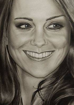 Kate Middleton Painting - Portrait Kate Middleton Detail by Natalya Aliyeva
