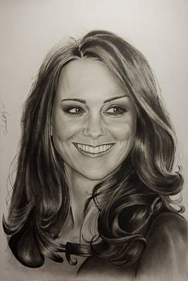 Kate Middleton Painting - Portrait Kate Middleton by Natalya Aliyeva