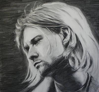 Nirvana Drawing - Portrait. Kurt Cobain.  by Kira Rubtsova