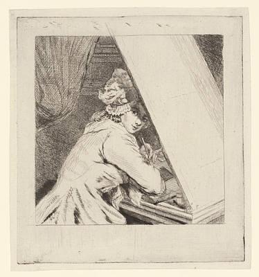 Self-portrait Drawing - Portrait Marie-lambertine Coclers, Louis Bernard Coclers by Louis Bernard Coclers