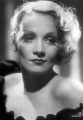 Movie Star Photograph - Portrait Marlene Dietrich by Underwood Archives